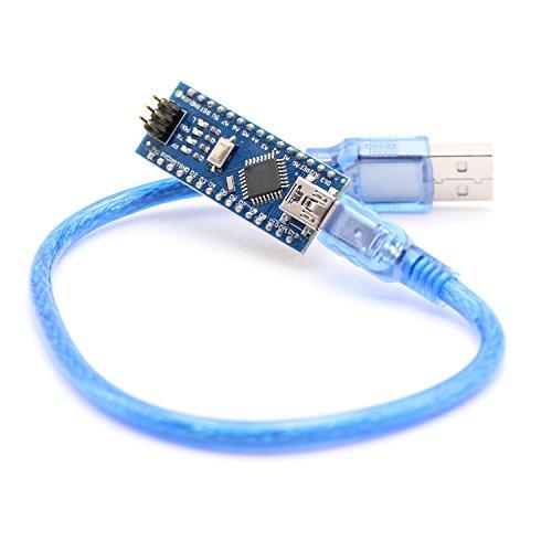 HWAYEH for Arduino Nano V3.0, Nano Board CH340/ATmega328P 5V 16M Micro-Controller Board with USB Cable, Compatible with Arduino Nano V3.0 (Nano x 1 + Cable)