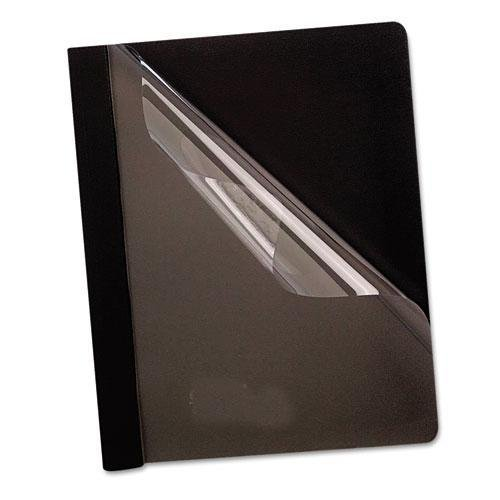 - Oxford 58806 Premium Paper Clear Front Cover, 3 Fasteners, Letter, Black, 25/Box