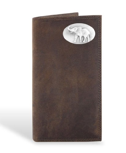 Alabama Elephant - Leather Crazy Horse Brown Long Roper (Brown Long Roper Wallet)