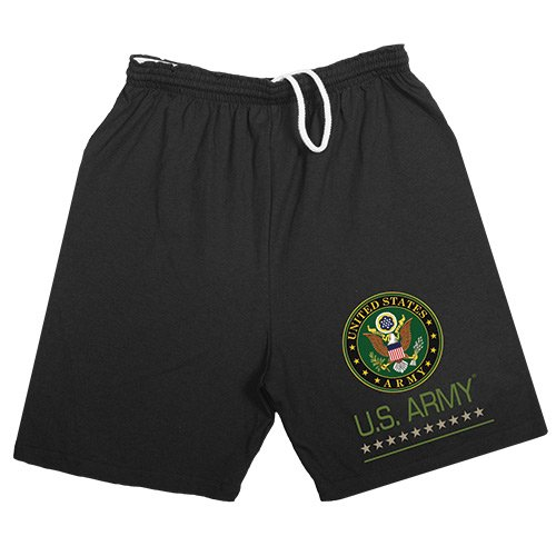Fox Outdoor Products U.S. Army Logo Running Shorts, Black, - Us Shorts Army Running