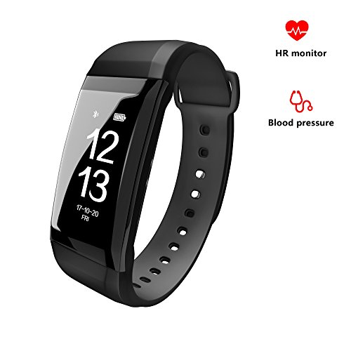 Fitness Tracker with Heart Rate Monitor and Blood Pressure Step Counter Distance Calories Sleep Monitor Waterproof Bluetooth Pedometers Gadgets Smart Watch Bracelet Wristband for Women Men Boys Girls by SOGO SMART