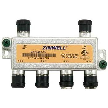 amazon com zinwell ms2x4ro 03 2x4 multi switch electronics rh amazon com  zinwell 3x4 multiswitch wiring diagram