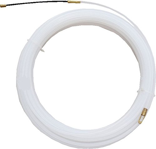 """Ezitown 10M White Nylon Wire Electrical Fish Tape diameter 3/25"""" length 10M 33ft can go through dry wall conduit pvc trunking room ceiling network room wiring engineering tools Nylon Fish Tape"""