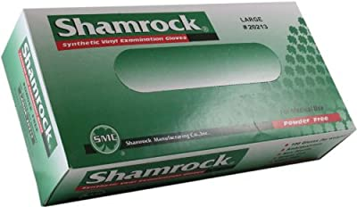 Shamrock 20214 Powder Free Clear Vinyl Extra Large Examination Gloves - Sold by the Case