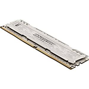 Crucial Ballistix Sport LT 2666 MHz DDR4 DRAM Desktop Gaming Memory Single 8GB CL16 BLS8G4D26BFSC (White)