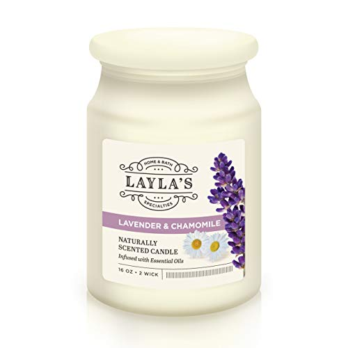 Laylas 2 Wick Scented Aromatherapy Relaxation