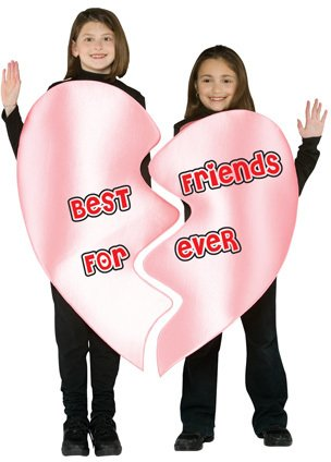 Best Friends Forever Heart Child Costume - One Size (Best Friend Halloween Costumes For Girls)