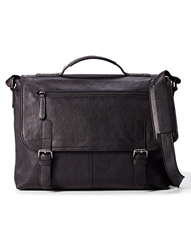 LEATHER ARCHITECT-Men's 100% Leather Laptop Bag- Black by Leather Architect