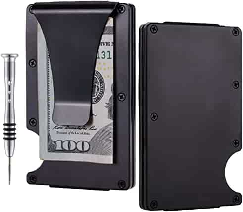 TougherGun Aluminum Slim Minimalist Front Pocket Wallet Credit Card Case Holder RFID Blocking