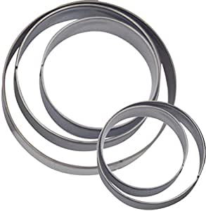 Cookie Cutter Circle Round Shape Great Set of 5pc Stainless Steel By Havaya Home, Lifetime Garenty!