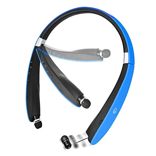 Bluetooth Headset, Bluetooth Headphones SX991-LBell Wireless Neckband Design with Foldable Retractable Headset for X/ 8/7 Plus Samsung Galaxy S8 Note 8 and Other Bluetooth Enabled Devices