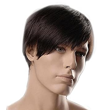 Charming Mens Short Dark Brown Wigs For Men Lacefront Wigs Hair Wigs Amazon In Beauty