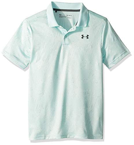 Under Armour Boys' Performance Polo 2.0 Novelty, Fuse Teal//Pitch Gray, Youth Small ()