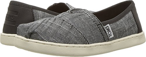 TOMS Youth/Tiny Classics 2.0 Slip-On Shoes (3 M US Little Kid, Black Textured (Classic Boys Slip On)