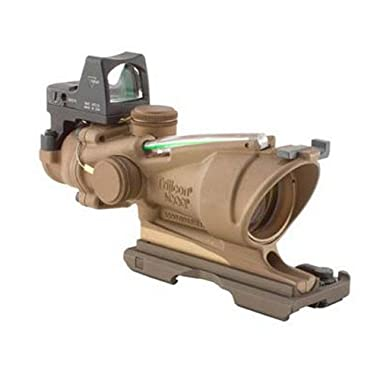 Trijicon TA31-ECOS-G ACOG 4x32 Flat Dark Earth Scope, Dual Illumination Green Crosshair Reticle with 3.25 MOA RMR Sight
