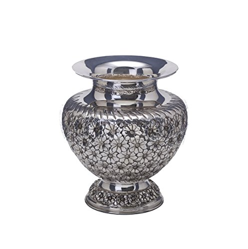Hazorfim Hand-Made Daisy Vase Sterling silver crystal vase 925 flowers handmade Israel wedding holiday gift Sterling Silver Vase
