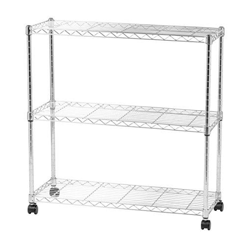IRIS 3-tier Wide Wire Metal Shelving (3 Tier Shelving)