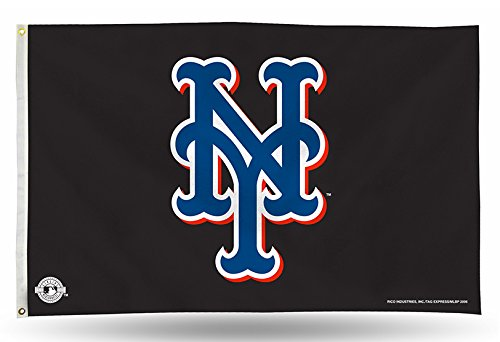 (MLB New York Mets 3-Foot by 5-Foot Banner Flag)