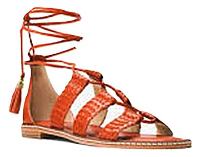 aba20a8e3c38 Image Unavailable. Image not available for. Color  Michael Michael Kors  Monterey Gladiator Leather Lace-Up Sandal ...