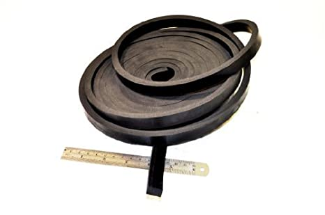 Rubber-Stuff Rubber Strip 10MM Wide X 10MM Thick X 5M Long - Solid Neoprene Black Rubber