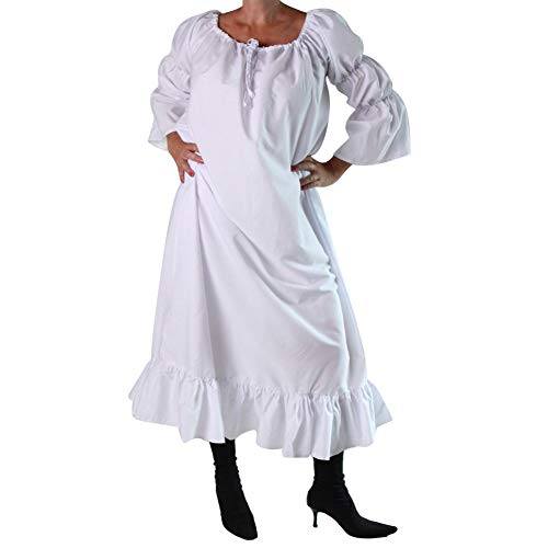 Making Believe Women's One Size White Medieval Chemise -