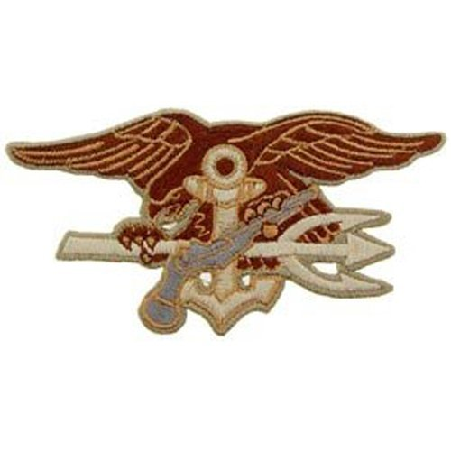 US Navy Armed Forces Military Iron On Patch - Seal Teams - Seal Trident Logo Applique (Seal Team Trident)