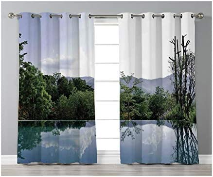 Goods247 Blackout Curtains,Grommets Panels Printed Curtains for Living Room Set of 2 Panels,52 by 95 Inch Length ,House Decor