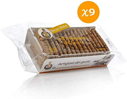 Mario Gluten Free Rice Roller – Handcrafted – Our Biscuit is Gluten Free – Rice Roller Chocolate Gluten Free 9 x 230 g Tubs (Total 2.10 kg)