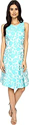 Tahari by ASL Women's Julisa - V Dress Sky/Aqua Dress 2