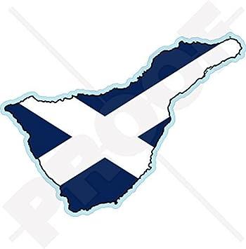 Teneriffa Karte.Teneriffa Insel Karte Flagge Kanarische Inseln Spanien