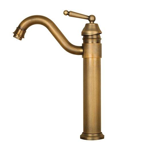 Laiton antique salle de bains Lavabo navire évier Robinet de lavabo simple trou robinets