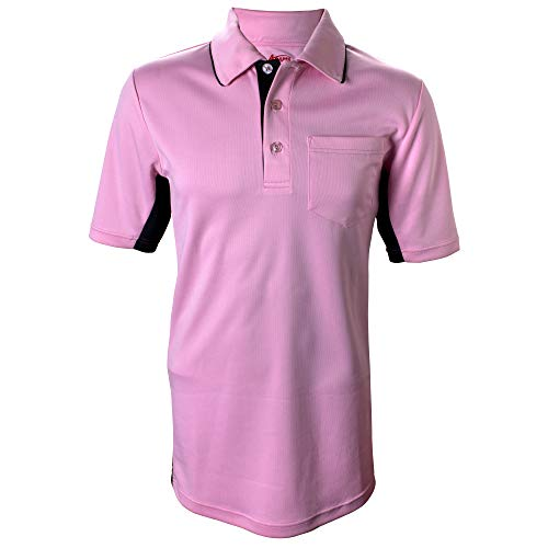 - Adams MLB Style Baseball and Softball Umpire Polo Short Sleeve Shirt, Pink/Black, X-Large