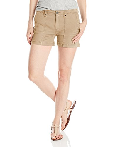 Calvin Klein Jeans Women's Utility Short, Maple Butter, 29 Beige Denim Shorts