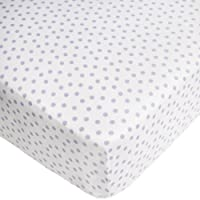 CoCaLo Mix & Match Dottie Fitted Sheet, Violet (Discontinued by Manufacturer)