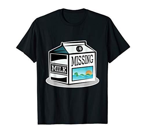 Loch Ness Monster Tshirt Kids Children Missing Milk Carton T-Shirt