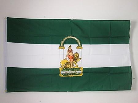 AZ FLAG Bandera de ANDALUCÍA 150x90cm - Bandera ANDALUZA 90 x 150 cm poliéster Ligero: Amazon.es: Hogar