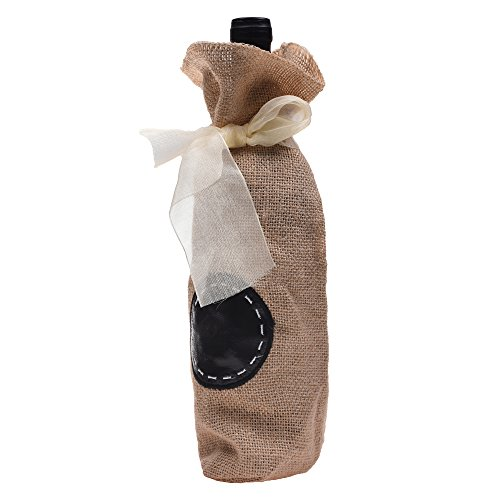 Kloud City ® Ligth Brown Champagne Wine Bottle Gift Bag With Ribbon (Burlap Wine Bottle Bags compare prices)
