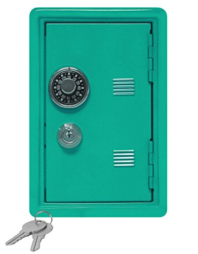 Kid's Coin Bank Locker Safe with Single Number Combination Lock and Key - 7