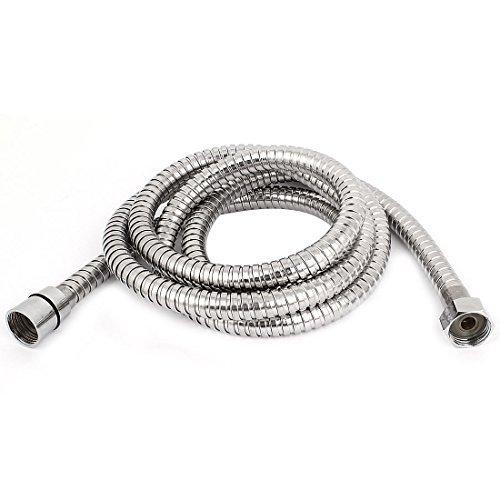 Acciaio inossidabile doccia di acqua calda a spirale Tubo flessibile 2M lungo DealMux a14121700ux0168