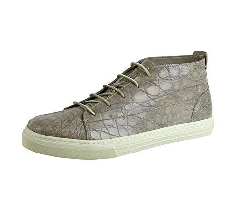 Gucci Men's Tan Crocodile High top Fashion Sneakers 342045 1523 (10.5 G / 11 US) ()