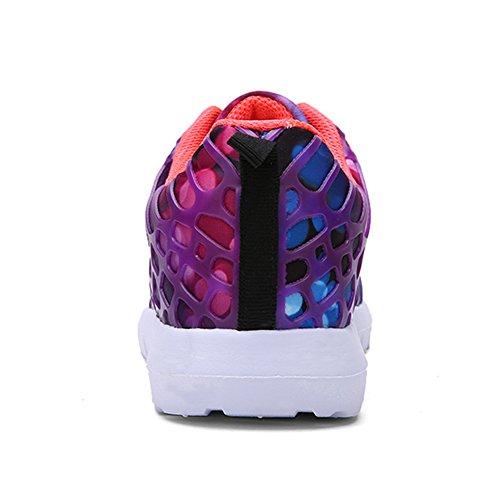 Hombres Mujeres Unisex Pareja Zapatillas De Moda Casual Malla Transpirable Deportes Atléticos Zapatos Púrpura