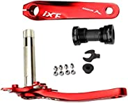 Bike Crank Arm Set Mountain Cranksets 170mm 104 BCD with Bottom Bracket Kit and Chainring Bolts for MTB BMX Ro