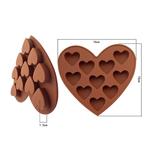 Letdown Silicone Ice Cube Tray Easy Pop Maker Heart Shape Cubes Model Valentines Gift by Letdown (Image #2)