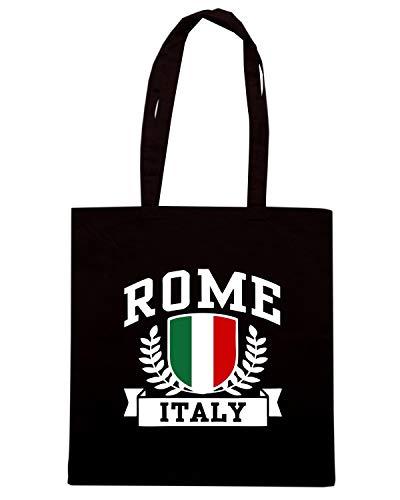 ROME Shopper TSTEM0200 Shirt Speed ITALY Borsa Nera wxXqBn0RT