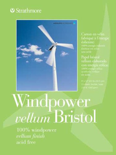Strathmore STR-642-111 No.100 Wind Power Vellum Bristol, 11 by 14