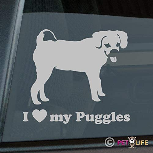 Mister Petlife Love Puggles Sticker Vinyl Auto Window Park