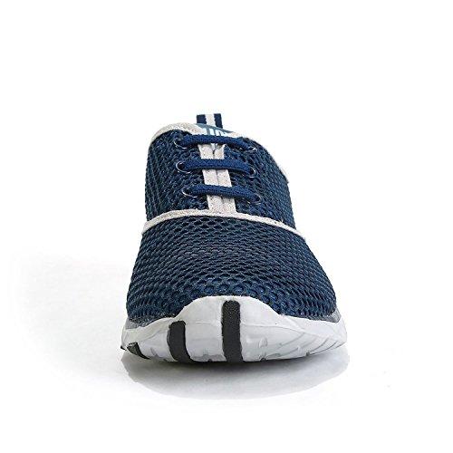 iLory Junge und Mädchen Masche Beleg auf Wasser-Schuhe, Schnelltrocknende Aqua Upstream Schuhe Breathable Ineinander Greifen Sport-Turnschuhe Grau