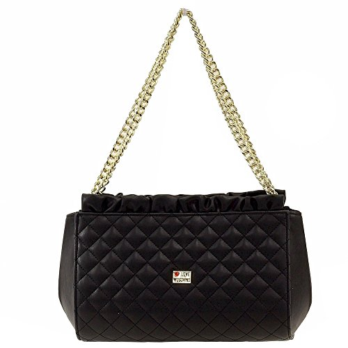 Love Moschino Women's Quilted Double Handle Black Shoulder Small Satchel Handbag by Love Moschino (Image #2)