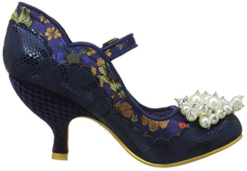 para Irregular Choice Blue Merceditas A Mujer Shoesbury Azul qqOw7F