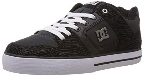 DC Shoes DC Men's Pure XE Skate Shoe,Grey/Black/Grey,9 M US